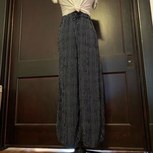 Navy Striped High Waisted Soft Pants